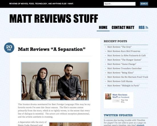 MattReviewsStuff.com
